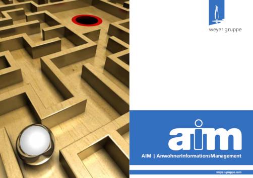 Deckblatt Broschüre AIM