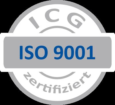 ISO 9001 certification symbol of ICG for weyer IngenieurPartner GmbH