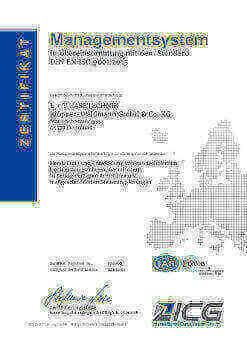 DIN EN ISO 9001:2015 Zertifizierung der LT GASETECHNIK
