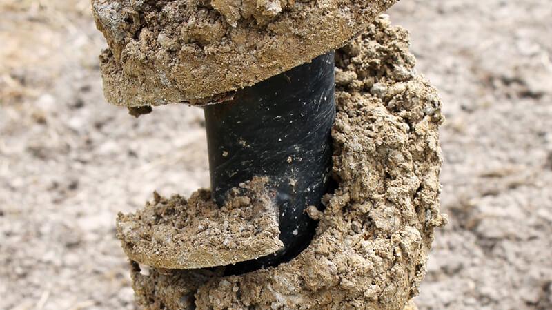 Bohrung zur Gewinnung einer Bodenprobe