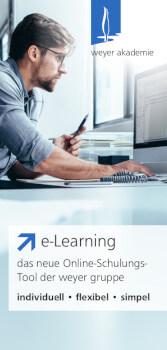 Deckblatt des Flyers zum Thema e-Learning