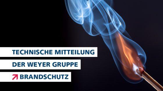 technische Mitteilung Headerbild Brandschutz