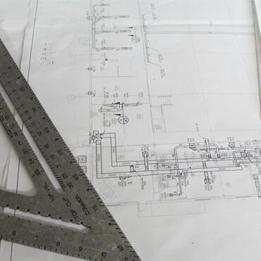 Zeichnungen von Industrieanlagen