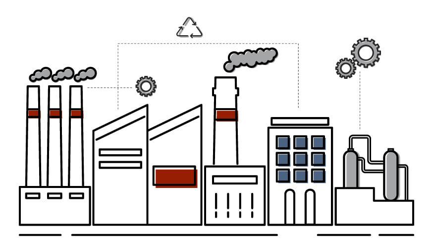 Vernetzte Fabrik der Industrie 4.0